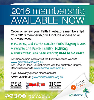 Faith Inkubators 2016 Membership Form